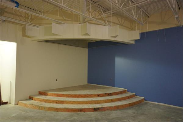 The stage in the first grade area