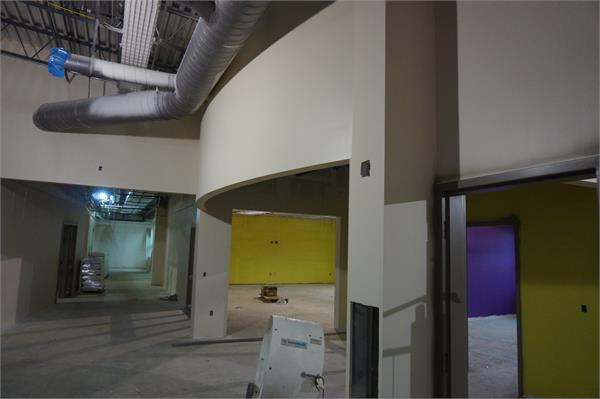 Entrance into three of the learning labs in the elementary area