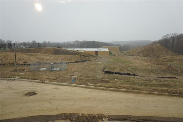 View from the high school.  Site of future baseball and softball fields