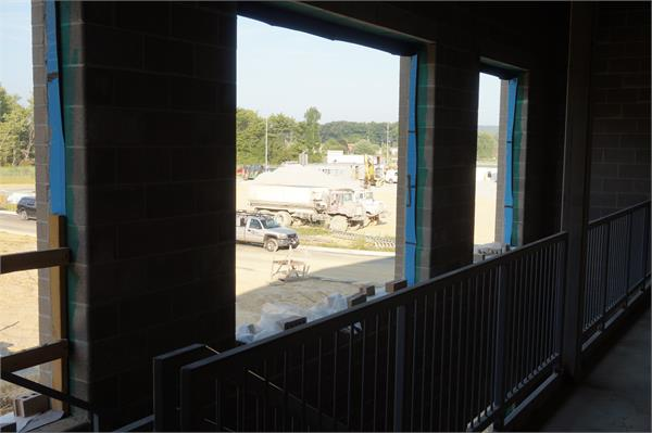 View from front of elementary wing on second floor