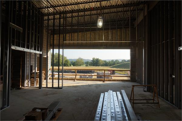 Second floor of elementary looking at Beaver Meadows